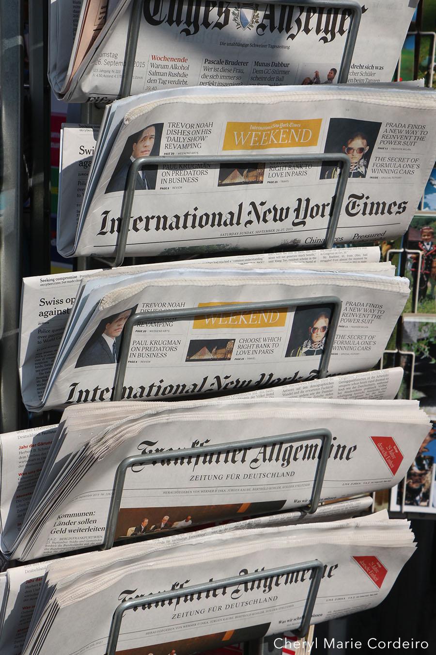 News stand, Zürich, Switzerland