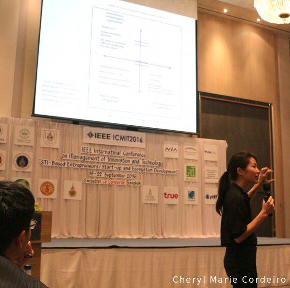 Cheryl Marie Cordeiro, ICMIT 2016 conference, Bangkok, Thailand.
