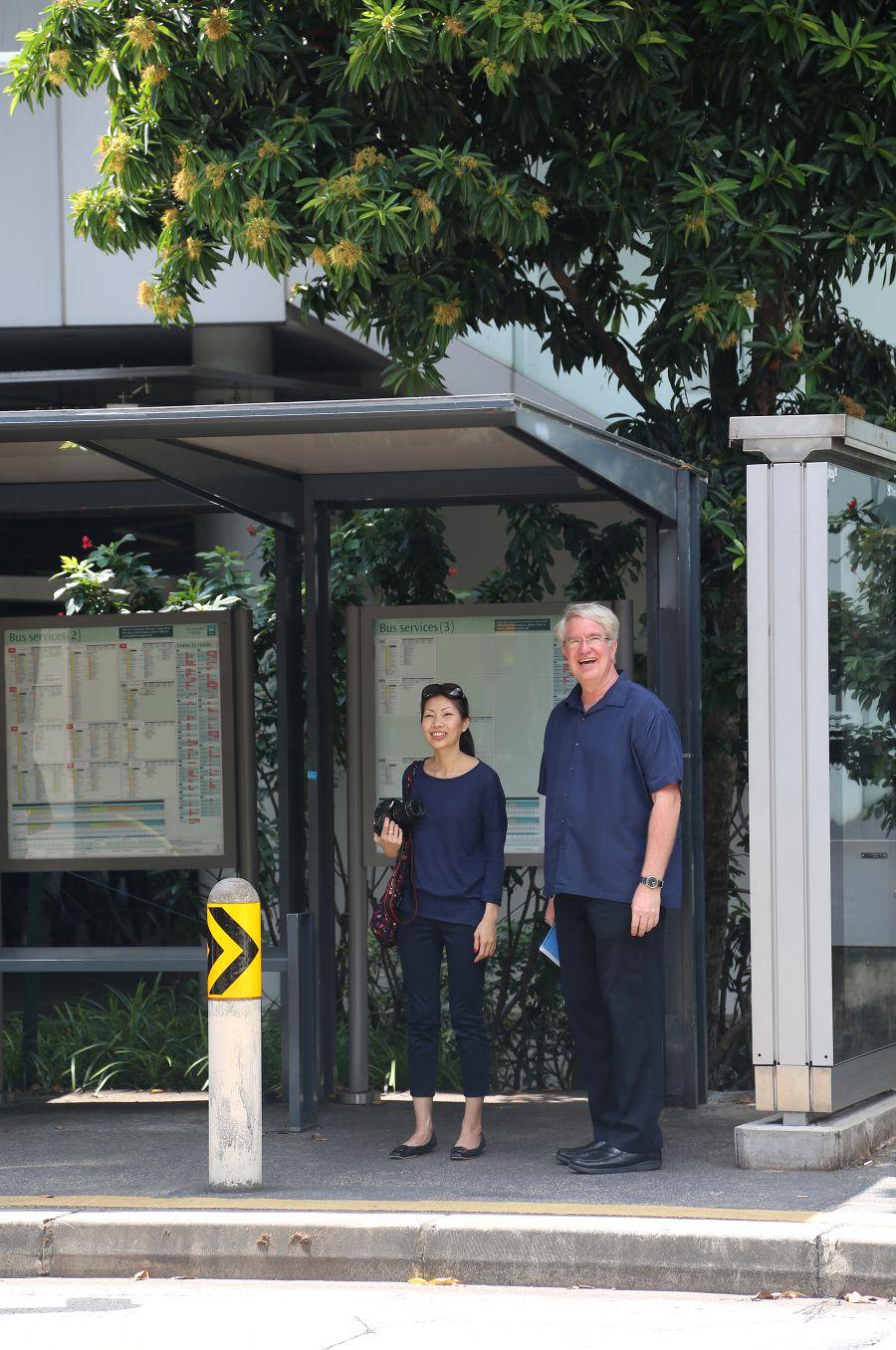 Cheryl Marie Cordeiro, Tom Estad, Singapore Management University campus, 2016