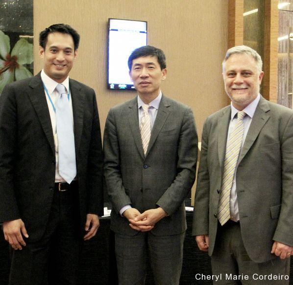 Responsible Business Forum (RBF) 2016, Marina Bay Sands, Singapore. L-R: Kevin Teng, Haoliang Xu, Tony Gourlay